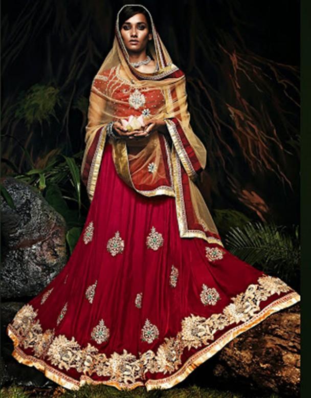 Une robe de mariée traditionnelle indienne